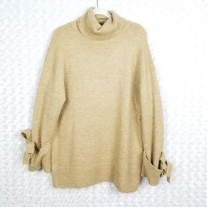 Zara Knit Tan Chunky Sweater